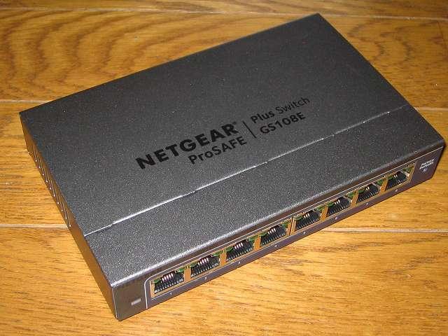 NETGEAR ネットギア アンマネージプラススイッチ ギガ 8ポート スイッチングハブ 管理機能付 無償永久保証 GS108E-300JPS 本体側面