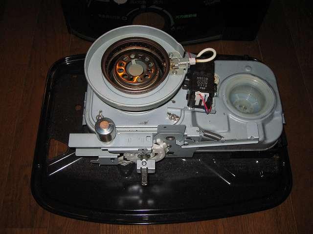 トヨトミ 石油ストーブ RS-S23C クリーニング・メンテナンス作業、石油ストーブ本体の油受けざら