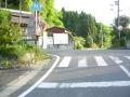 160505天王バス停先の交差点を左折して上る