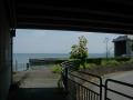 160618高島バイパスをくぐり、湖岸に出る