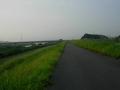 160815開橋はアンダーパスに下りず堤防上を移動