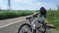 160910牧野から堤防沿いを進む