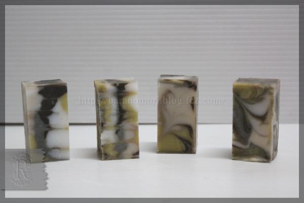 手作り石鹸 パープルクレイ ブルークレイ シークレイ メントールクリスタル 20160414