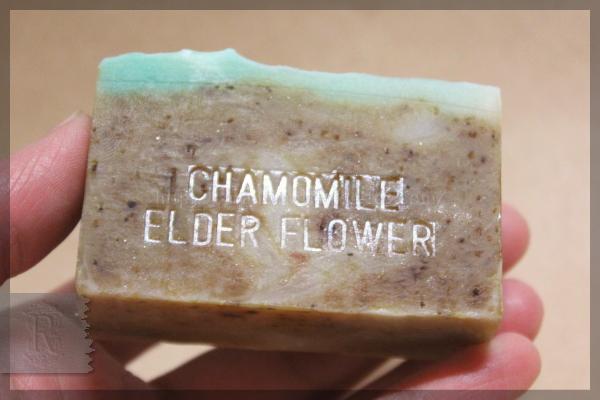 手作り石鹸 エルダーフラワー カモミール 20160418