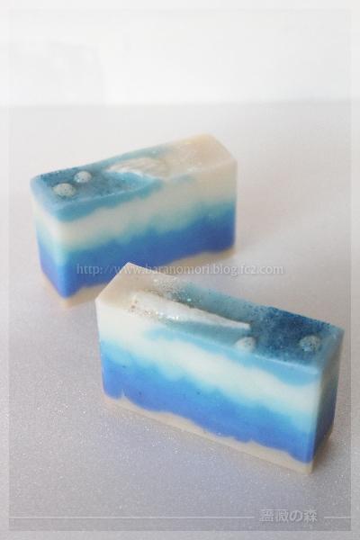 手作り石けん handmadesoap sea 海 貝殻 ブルークレイ 20160719