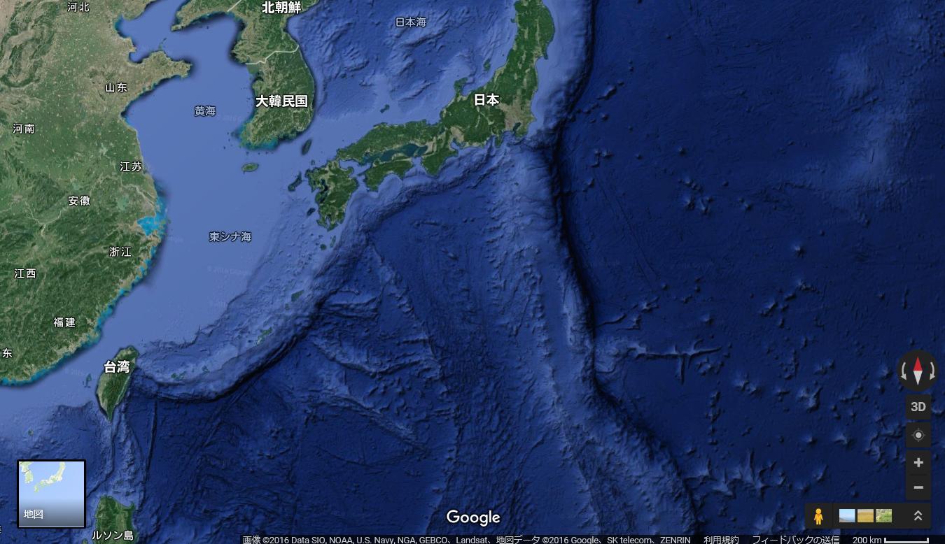 大陸棚グーグルアース