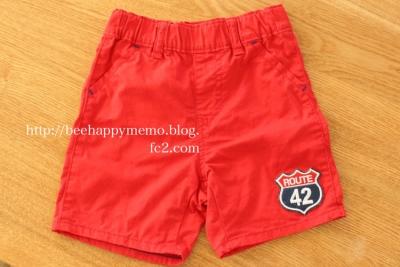 ユニクロのズボン赤