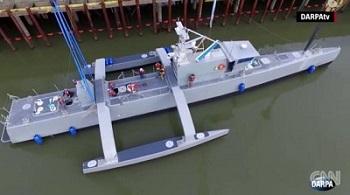 米海軍無人潜水艇「シーハンター」