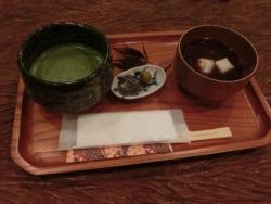 茶房「一竹庵」 抹茶・ぜんざい