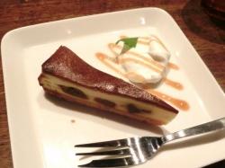ラム漬け無花果のチーズケーキ