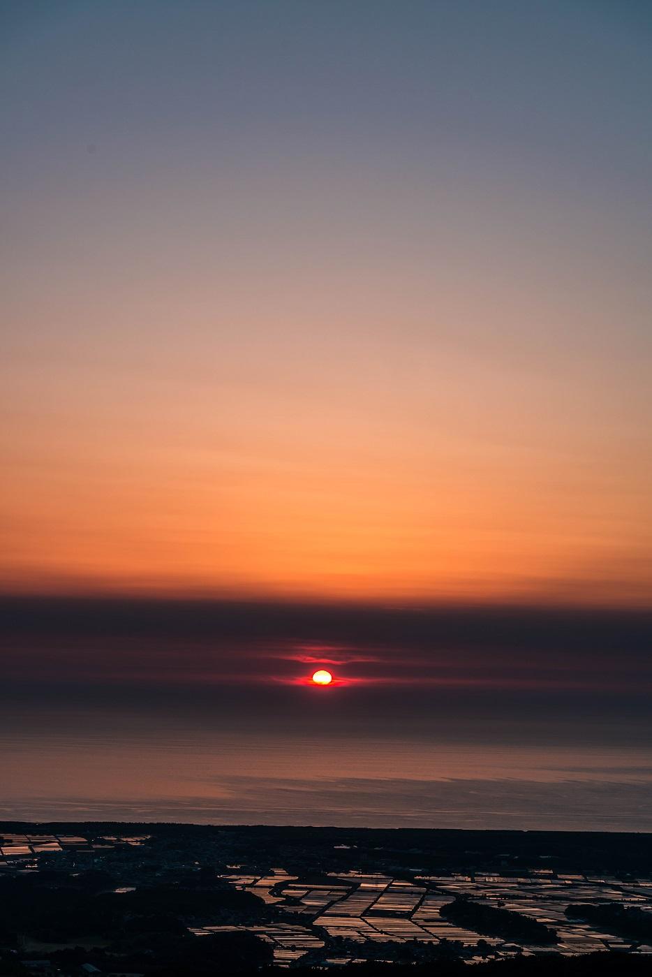 2016.05.22宝達山からの夕日4