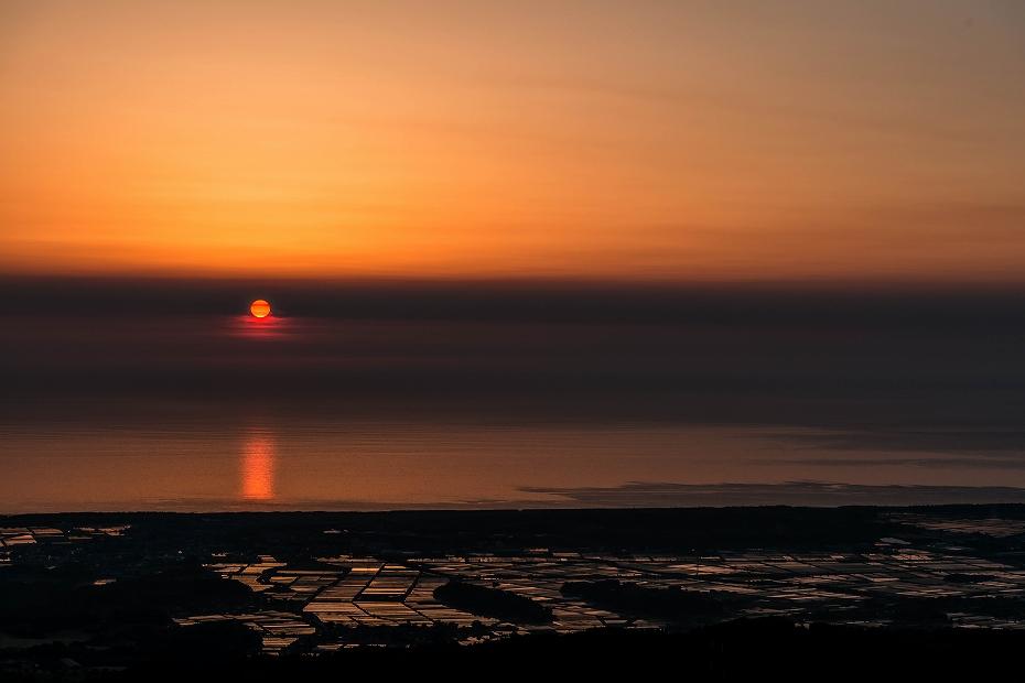 2016.05.22宝達山からの夕日1