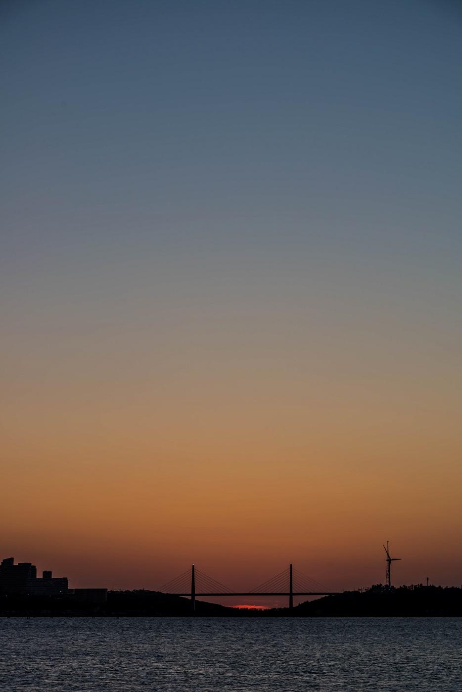 2016.06.02内灘大橋に沈む夕日6.1906