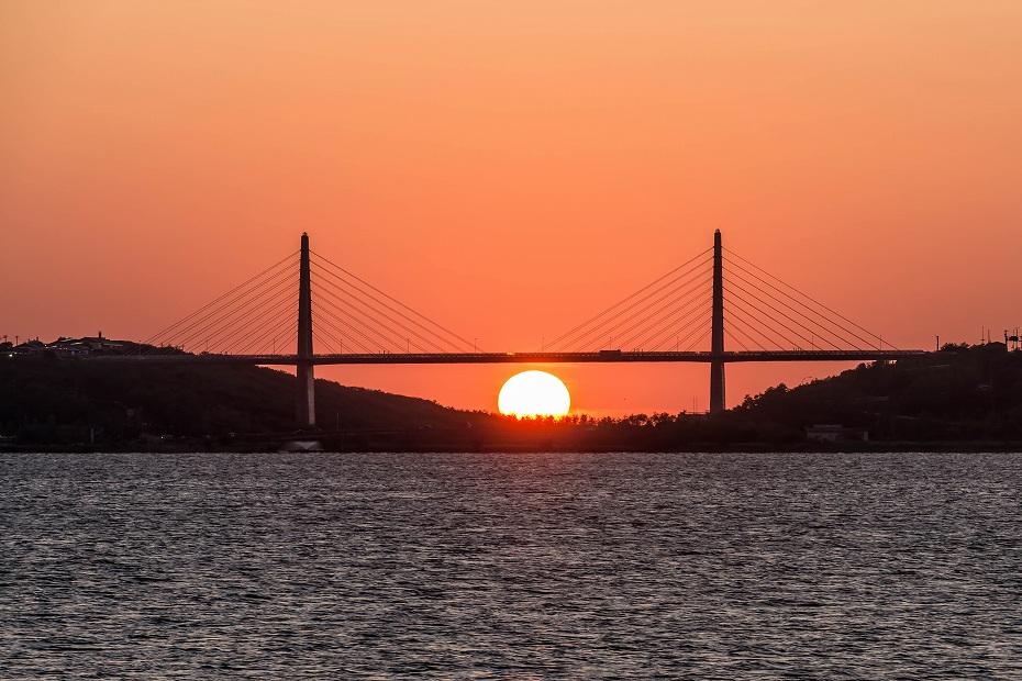 2016.06.02内灘大橋に沈む夕日5.1902