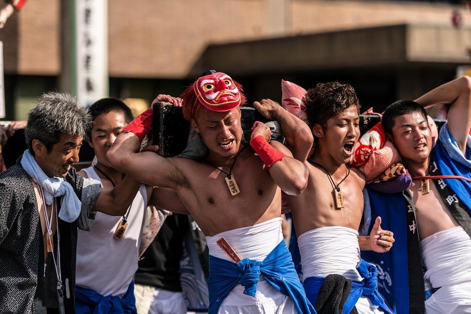 2016.07.23松波人形キリコ祭りの練り歩き1