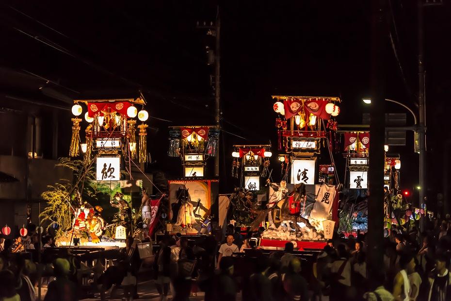 2016.07.23松波人形キリコ祭り夜の乱舞1