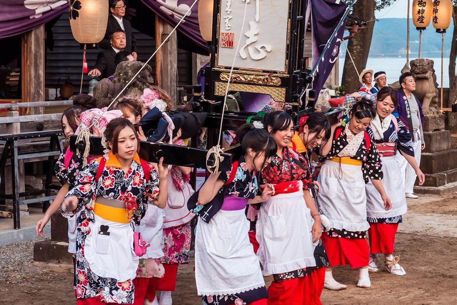 2016.08.14夕暮れの西海祭り1