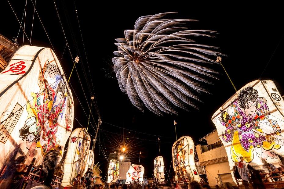 2016.08.27にわか祭の花火1