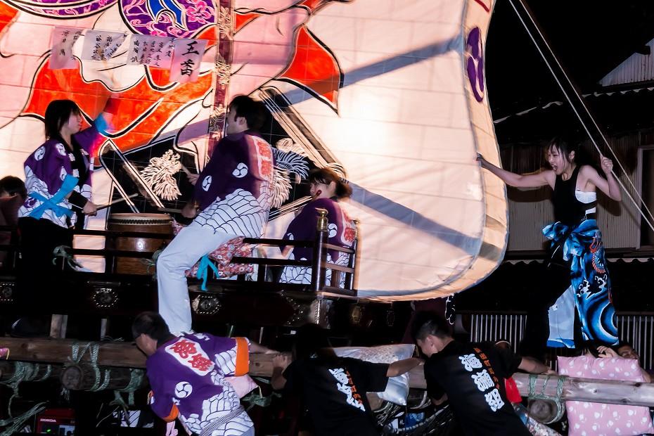 2016.08.27にわか祭の広場で回転12