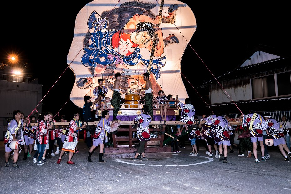 2016.08.27にわか祭の広場で回転5