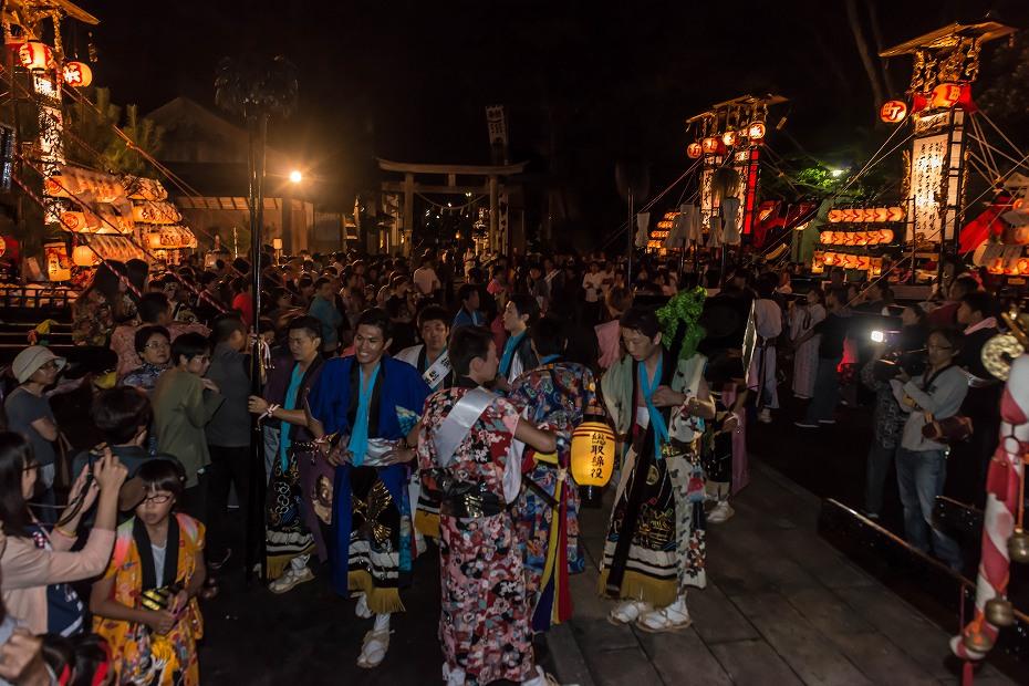 2016.09.15正院の秋祭り境内で乱舞5