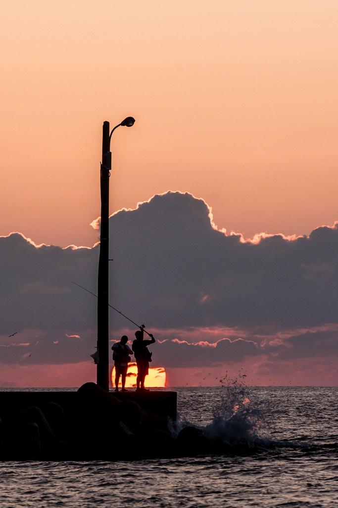 2016.09.23内灘海岸の夕陽6