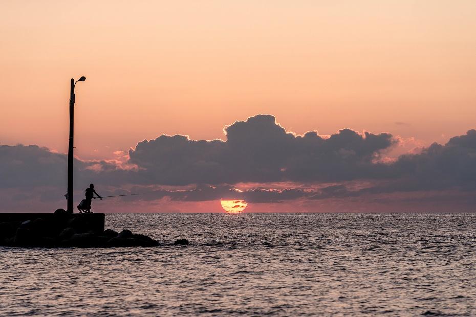 2016.09.23内灘海岸の夕陽5