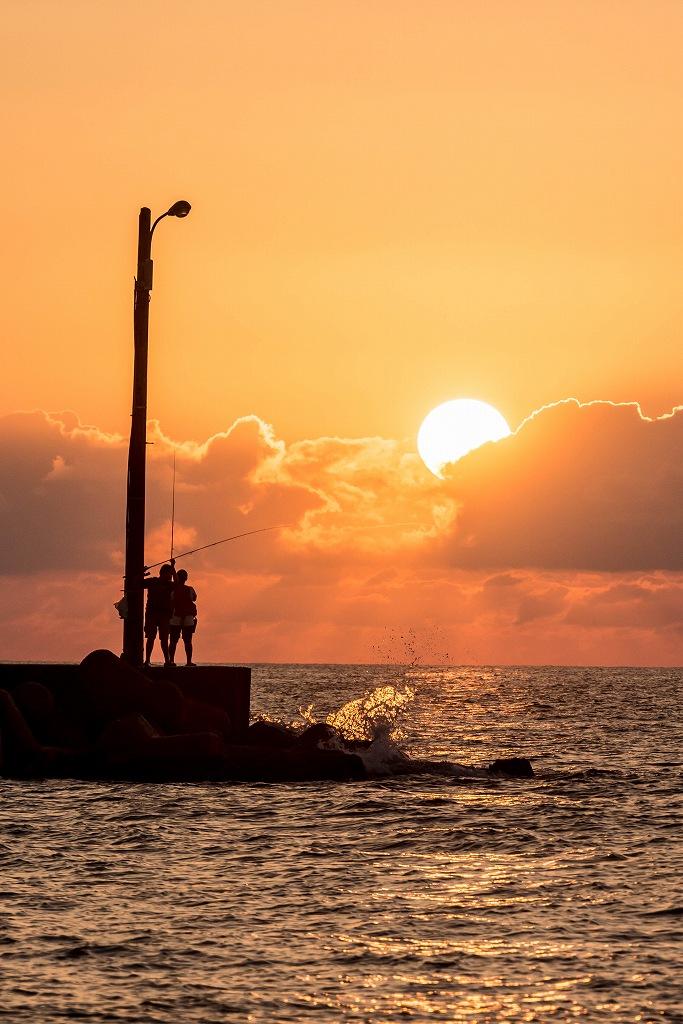 2016.09.23内灘海岸の夕陽4