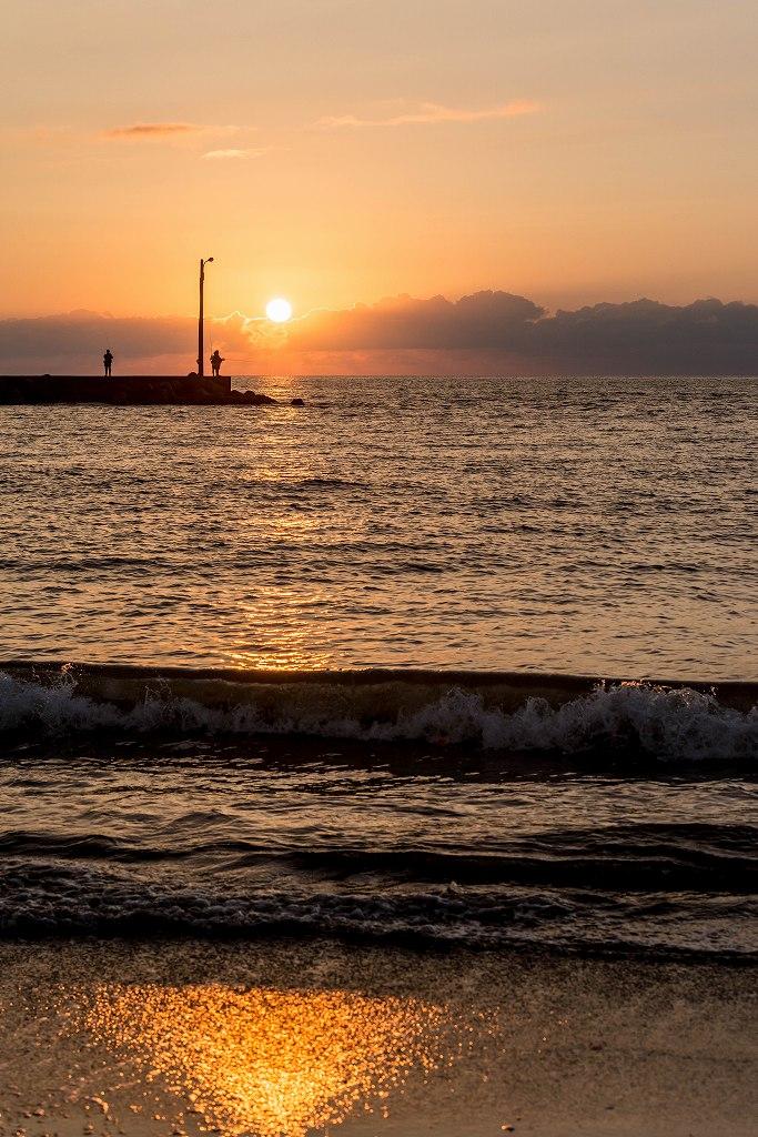 2016.09.23内灘海岸の夕陽3