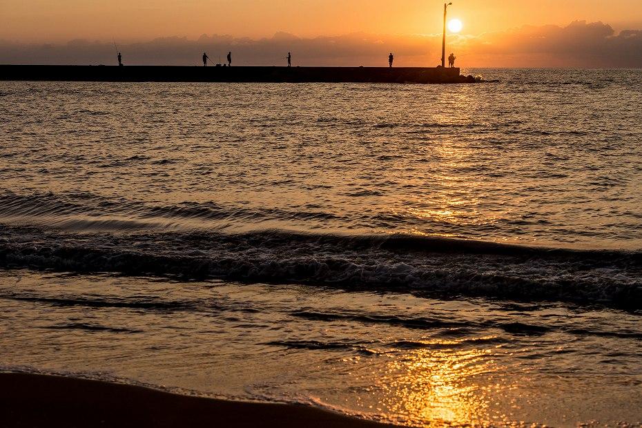 2016.09.23内灘海岸の夕陽1