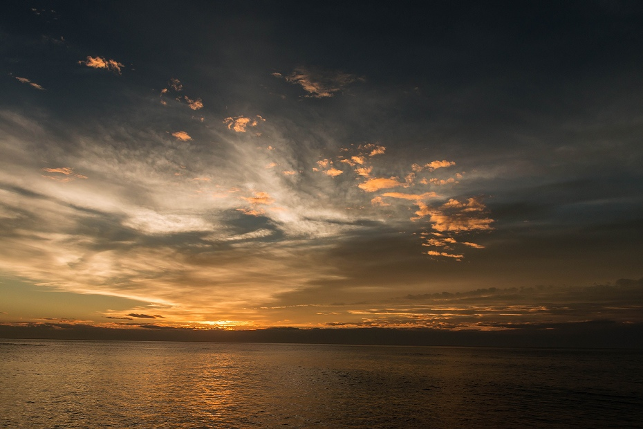 2016.10.05内灘海岸の夕焼け3