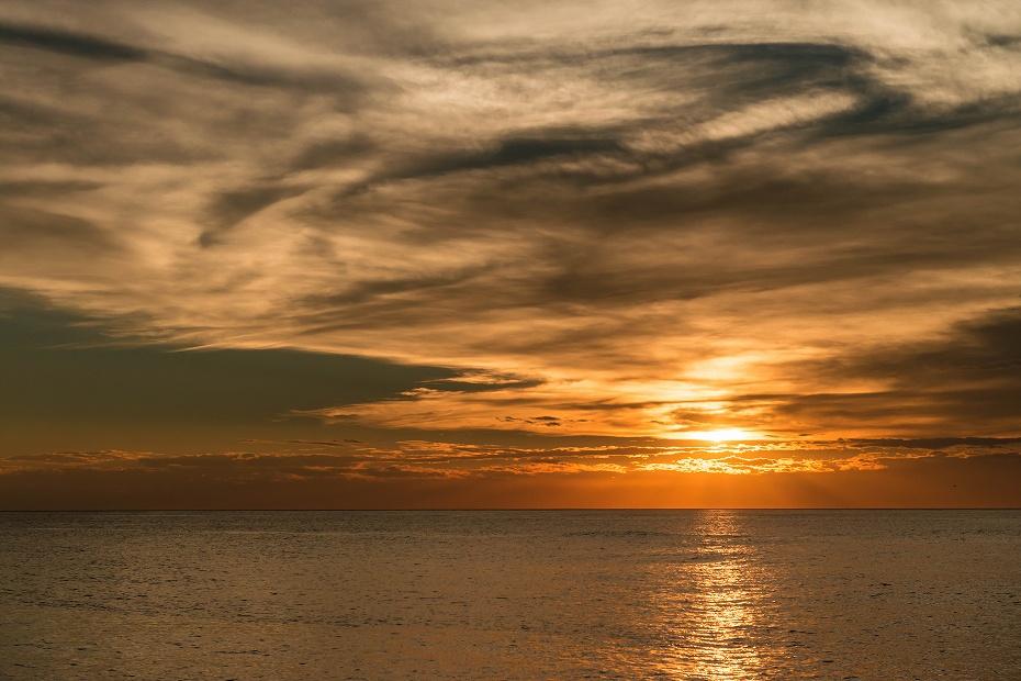 2016.10.05内灘海岸の夕焼け1