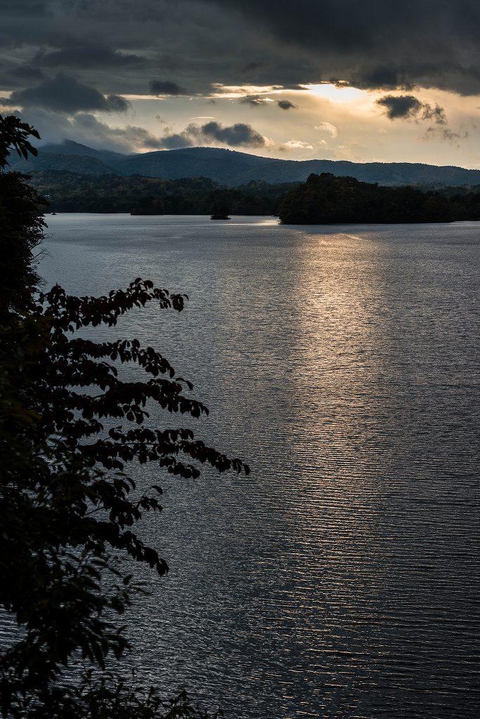 2016.10.18小野川湖の夕焼け1