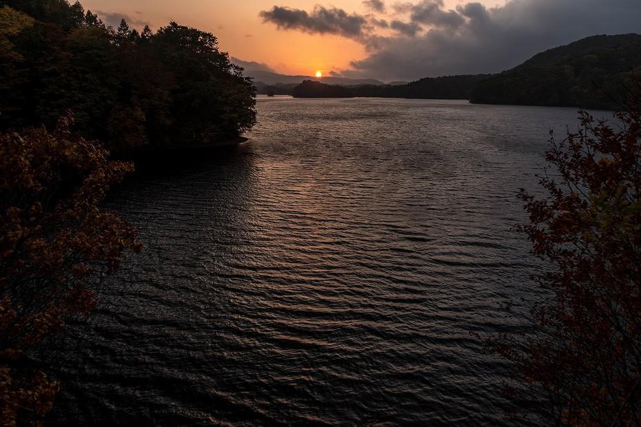 2016.10.20小野川湖の夕焼け