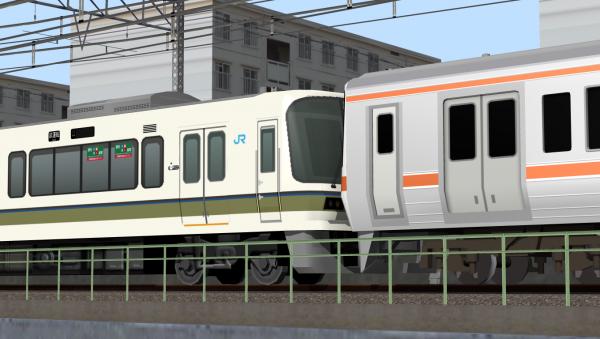 221系リニューアル車&311系 併結