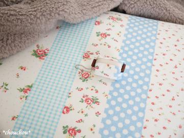 YUWA 枕カバー サックス ポーチ