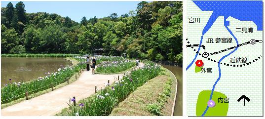 外宮花菖蒲園マップ