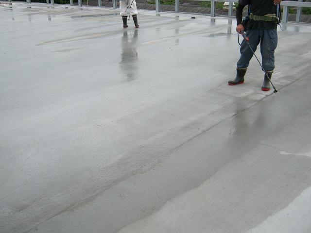 立体駐車場 シッカリート改質用 姫路 2材料塗布