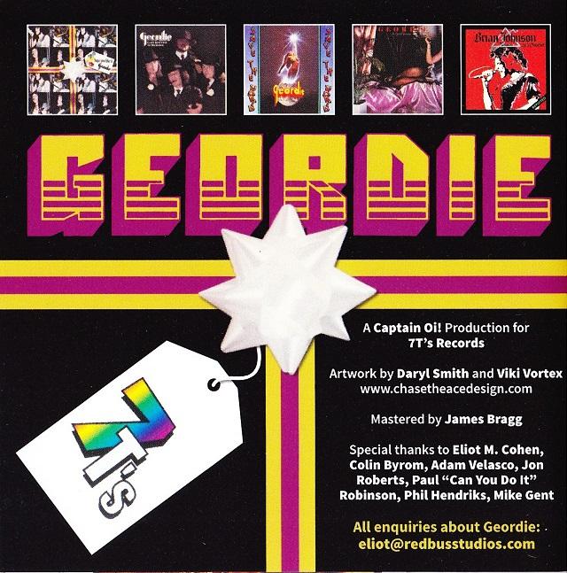 Geordie / The Albums ブックレット(裏)
