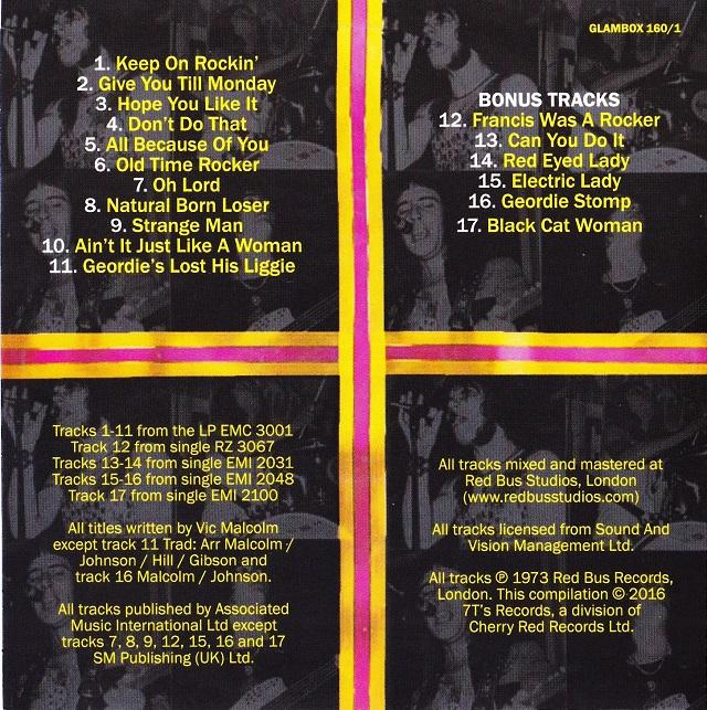 Geordie / The Albums Disc1(裏)