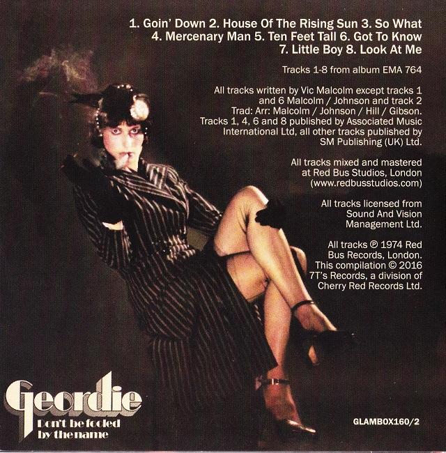 Geordie / The Albums Disc2(裏)