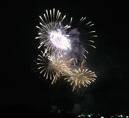 河川敷の花火2