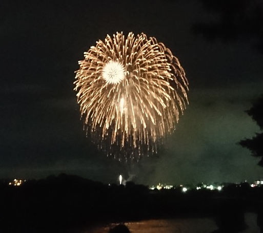 河川敷の花火3