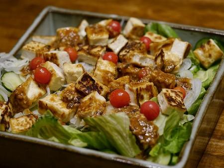 160823ゴウヤ豆腐サラダ