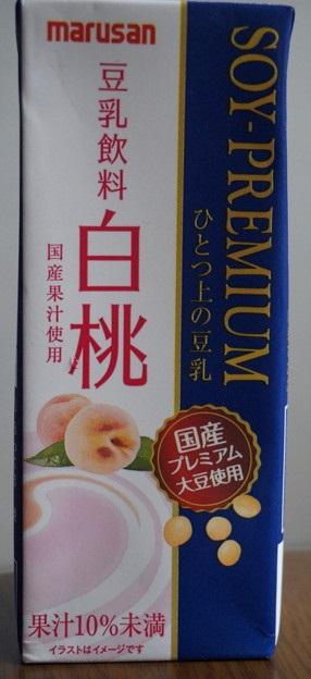 プレミアム豆乳 白桃