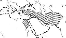 アレクサンドロスの帝国の広がり