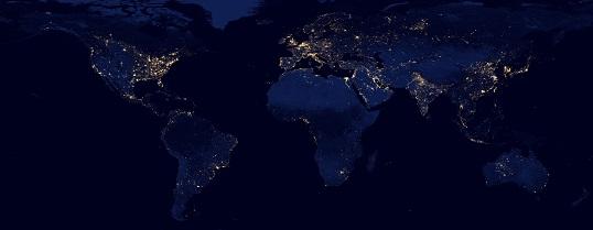 夜の地球・世界