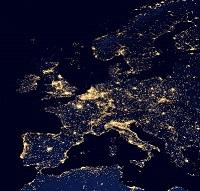 夜の地球・西ヨーロッパ