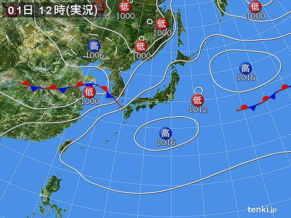 天気図(7月1日12時)