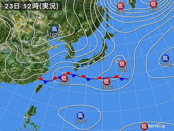 10月23日12時の天気図